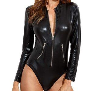 Sexy Pleather Body Suit